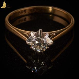 Diamentowy pierścionek zaręczynowy Polska Międzywojenna