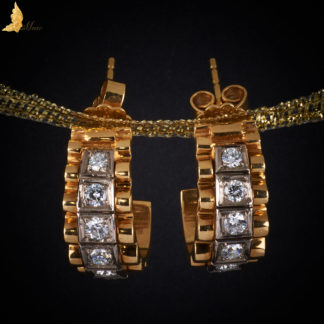 Diamentowe kolczyki ok. 1,25 ct w 18K złocie, projekt inspirowany Cartier XX w.
