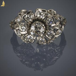 Diamentowy Kwiat w platynie, Secesja Belgia_x1