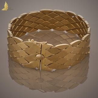"""18K Bransoleta w złote romby """"wężowa skóra"""""""