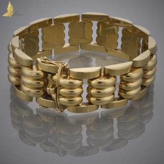 Geometryczna bransoleta w stylu Gucci w złocie 18K