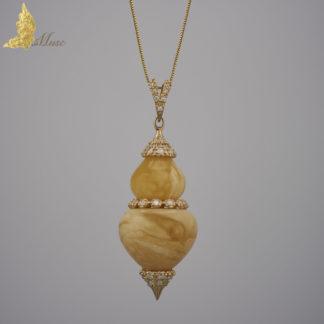 Zawieszka Royal Amber, złoto, brylanty 1.05 ct