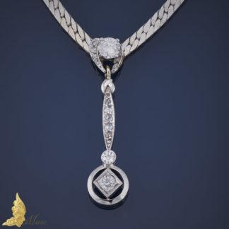 Naszyjnik - kolia z brylantami w białym złocie pr.750