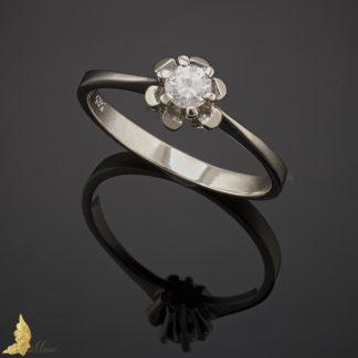 Diamentowy solitaire 0,21 ct w białym złocie pr.585