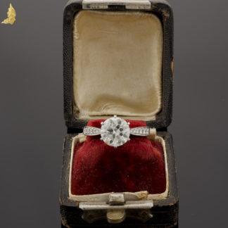 Pierścionek z brylantami ok. 2,30 ct w białym złocie pr.750