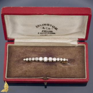 Brosza z brylantami ok. 3 ct, Austria od 1925 r., srebro i złoto 14K