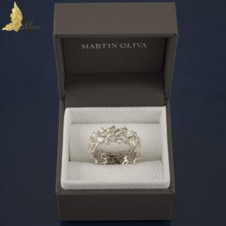 Platynowa obrączka Martin Oliva London z diamentami 3,70 ct