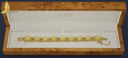 Bransoleta Reverie w żółtym złocie 18K, z szafirami i bursztynem Royal Amber