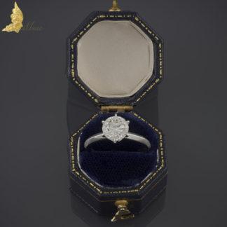 Brylantowy solitaire 1,72 ct w białym złocie 14K