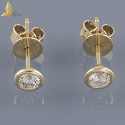 Kolczyki z brylantami 0,36 ct na sztyft w białym złocie 14K