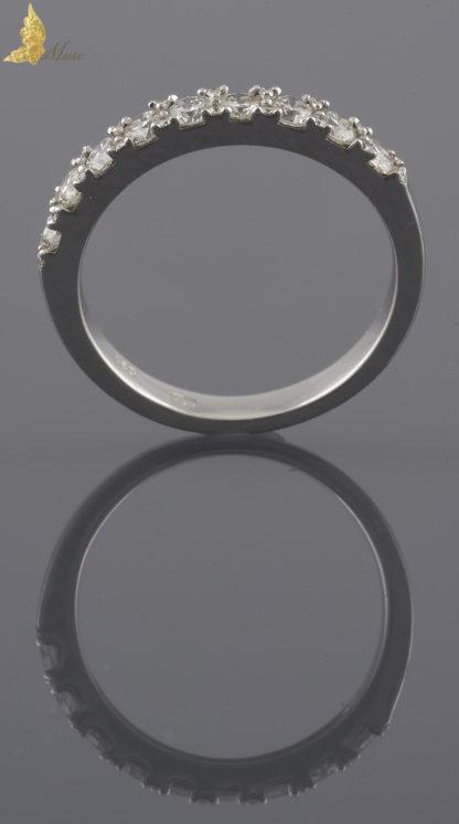 Półobrączka z brylantami 0,65 ct w białym złocie 14K