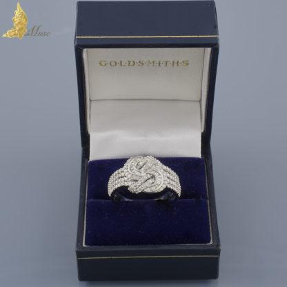 Hiszpański pierścionek z brylantami ok. 1,40 ct