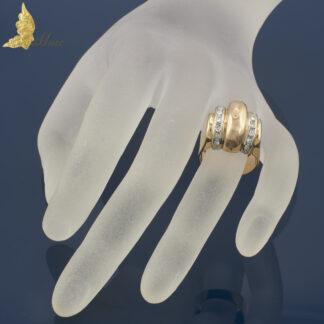 Francuski sygnet Art Deco w 18K złocie z brylantami ok. 0,50 ct